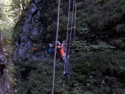 Klettersteig Postalmklamm : Postalmklamm klettersteig salzkammergut